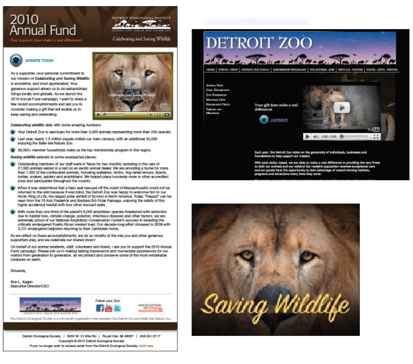 Detroit Zoo Fundraising Campaign Samples