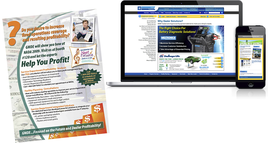 Creative: Direct mail promotion and e-commerce website